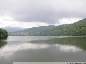 Jezioro Mię™dzybrodzkie z zapory w Żarnówce Mał'ej