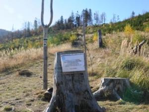 Informacja o zamkniętym zielonym szlaku na Halę Lipowską