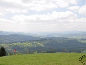Południowo-zachodnia panorama z Ochodzitej