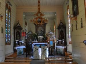 """Wnętrze kaplicy """"Na Wodzie"""""""