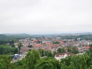 Widok z Wieży Piastowskiej w Cieszynie