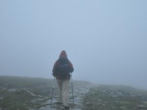 Zejście ze szczytu Babiej Góry
