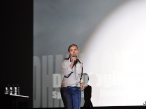 Kinga Baranowska podczas prelekcji