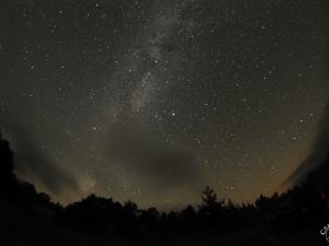 Niebo nocą i Droga Mleczna. Przełęcz Wyżnia