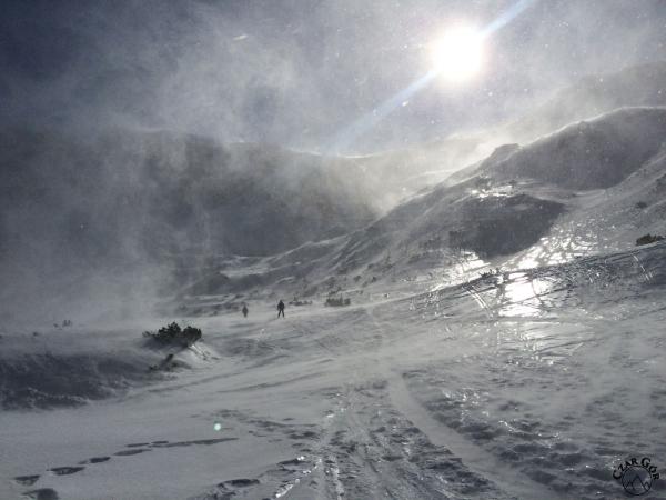 Wycieczka skitourowa pod Przełęcz Karb. Halny w Tatrach