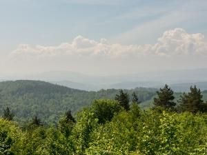 Punkt widokowy na Bieszczady w drodze do Krasiczyna