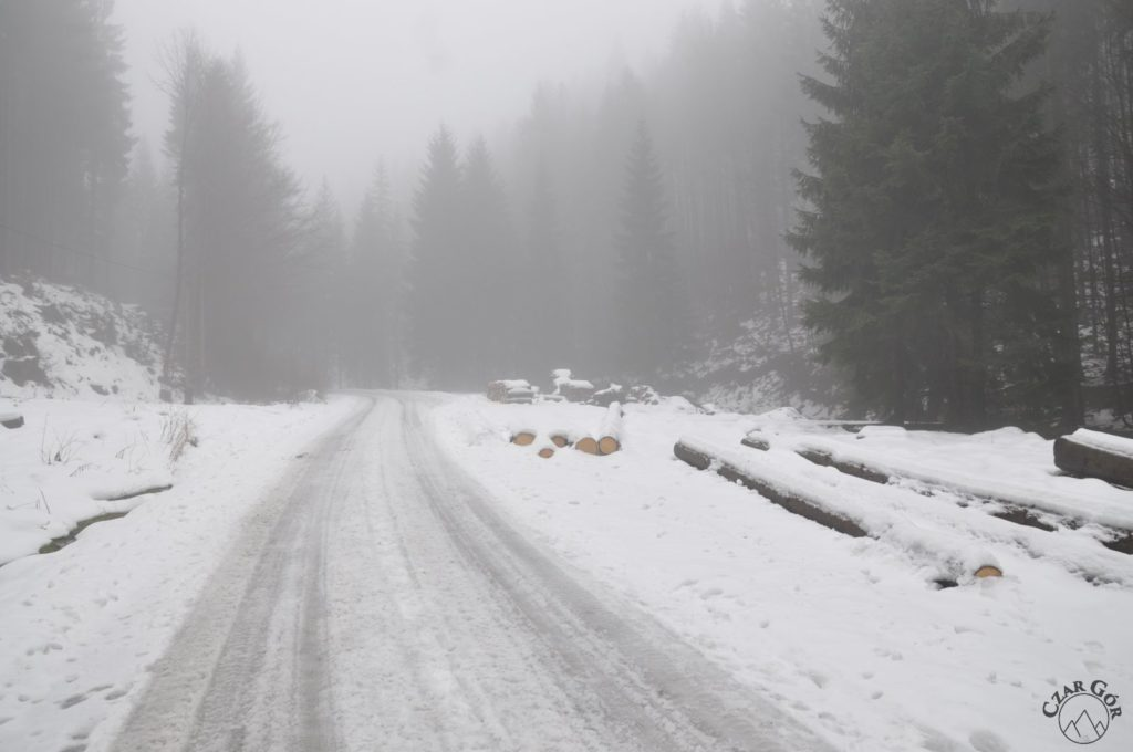 W coraz głębszym śniegu na czarnym szlaku