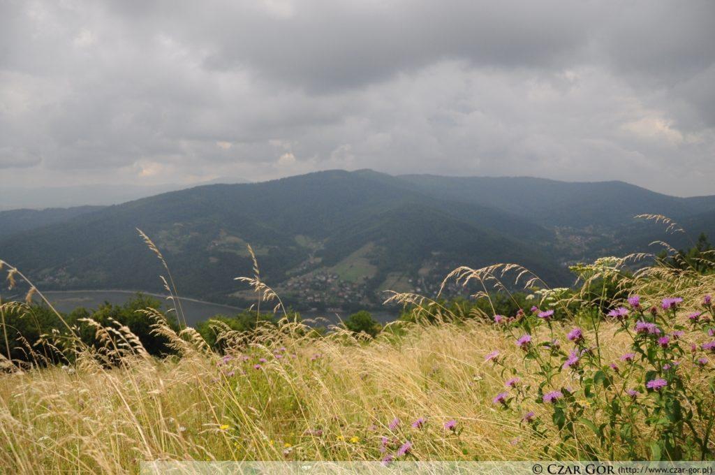 Panorama z góry Żar w stronę Magurki Wilkowickiej i Czupla