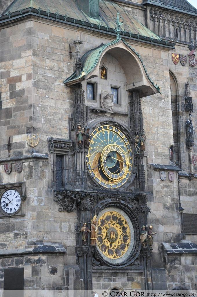 Zegar ratuszowy Orloj na Rynku Starego Miasta (Staroměstské náměstí)