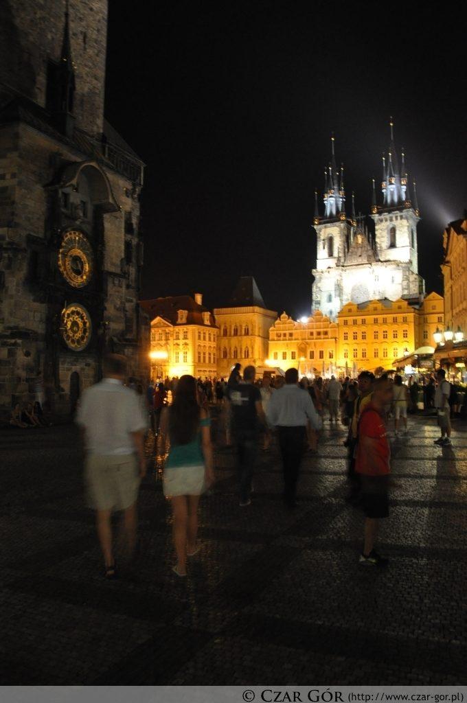 Rynek Starego Miasta nocą (Staroměstské náměstí)