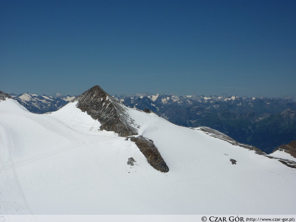 Panorama z tarasu na szczycie Gefrorene-Wand-Spitzen (3270 m n.p.m.)