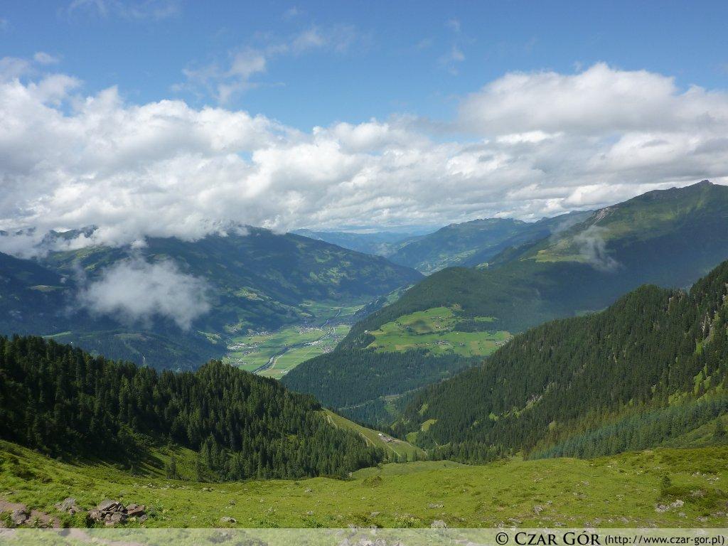Widoki aplejskie - w stronę doliny Zillertal