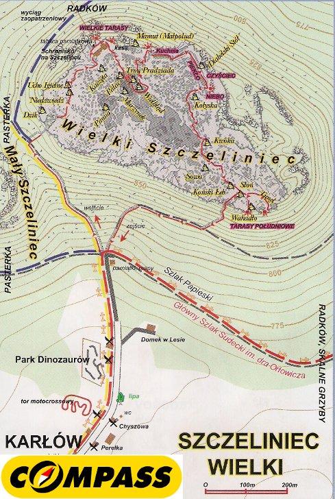 Szczegółowy przebieg trasy na Szczeliniec Wielki