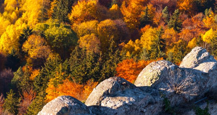 Zamek Chojnik z pięknymi panoramami