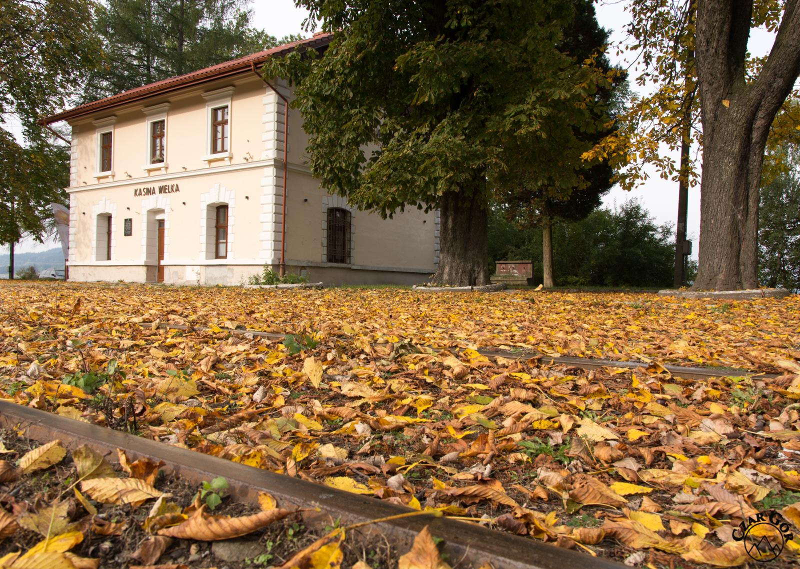 Stacja Kasina jesienią