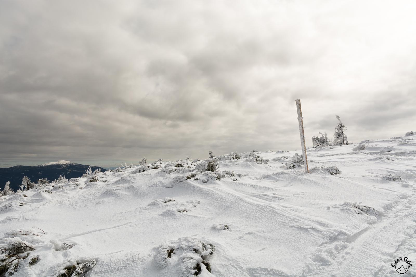 Podejście na Pilsko z widokiem na Babią Górę
