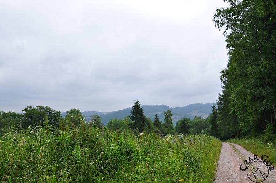 Wschodnia panorama z podejścia na Skopiec