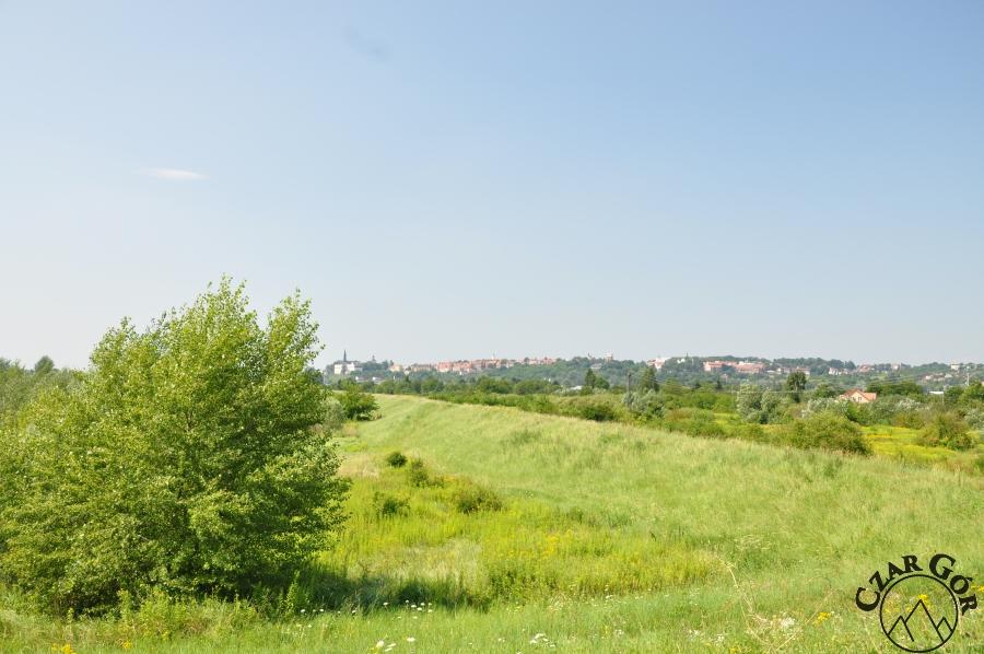 Sandomierz widziany z czerwonego szalku nieopodal Gór Pieprzowych