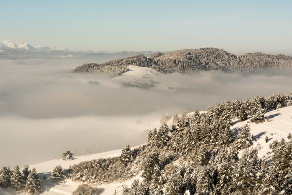 Zima widziana z Wysokiego Wierchu