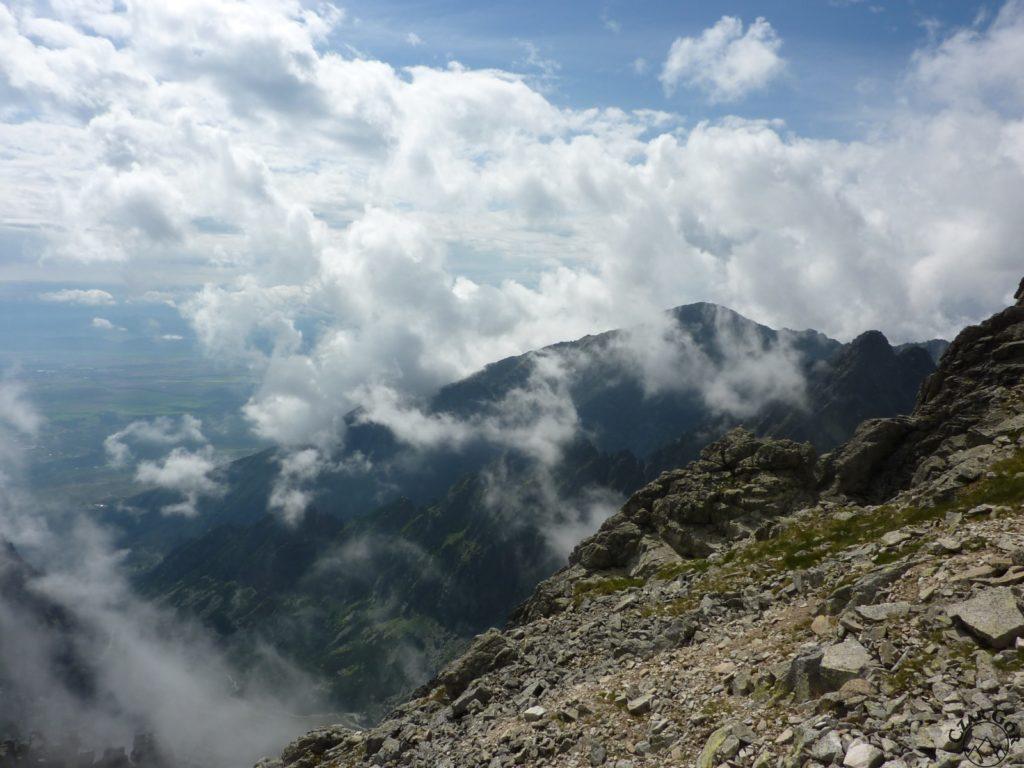 Sławkowski Szczyt w chmurach