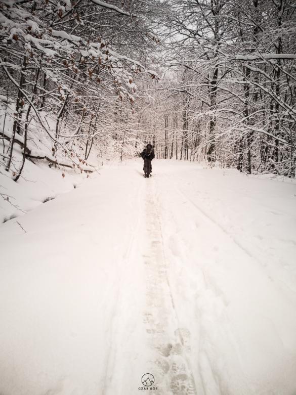 Podejścia zimą są męczące ;)