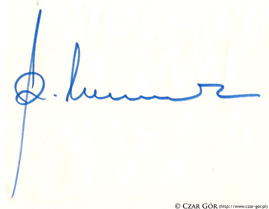 Autograf Reinholda Messnera