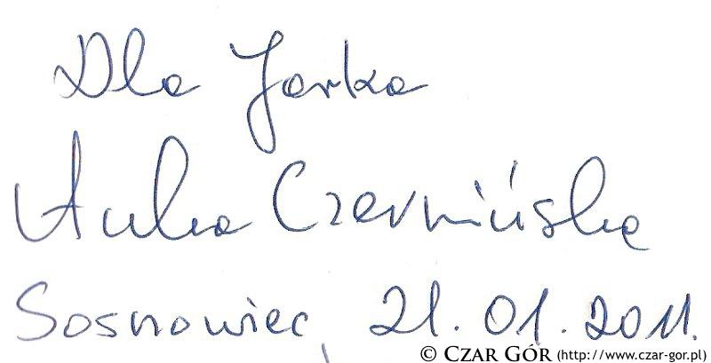 Autograf Anny Czerwińskiej