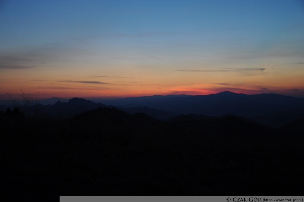 Zachód słońca na Durbaszce