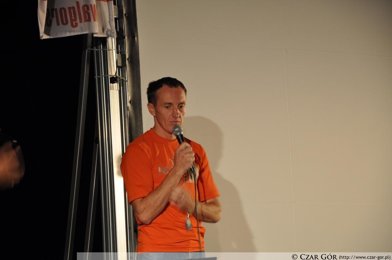 Denis Urubko podczas prelekcji 'Central Tian-Shan'