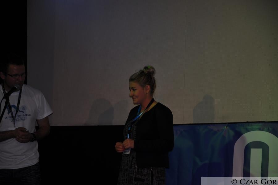 Marta Sziłajtis-Obiegło podczas prelekcji