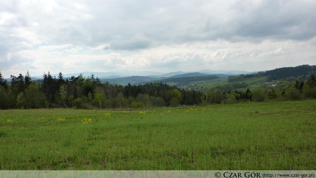 Panorama z polany Kamionka