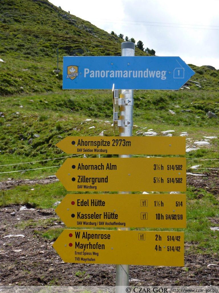 Szlakowskaz w Alpach Austryjackich