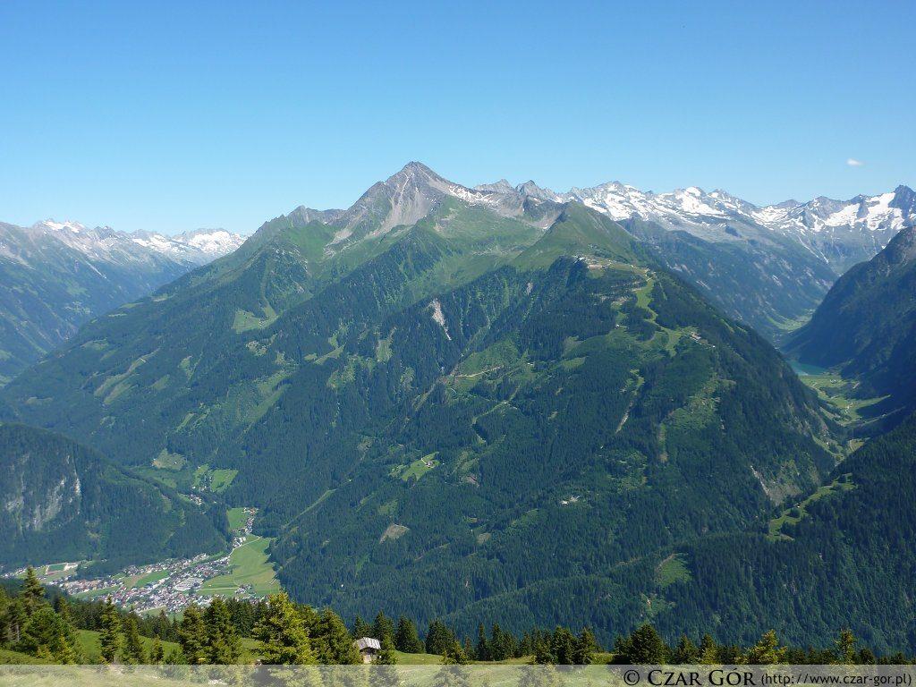 Na szczycie Penkenjoch (2095 m n.p.m.). W stronę Ahornspitze (2973 m n.p.m.).