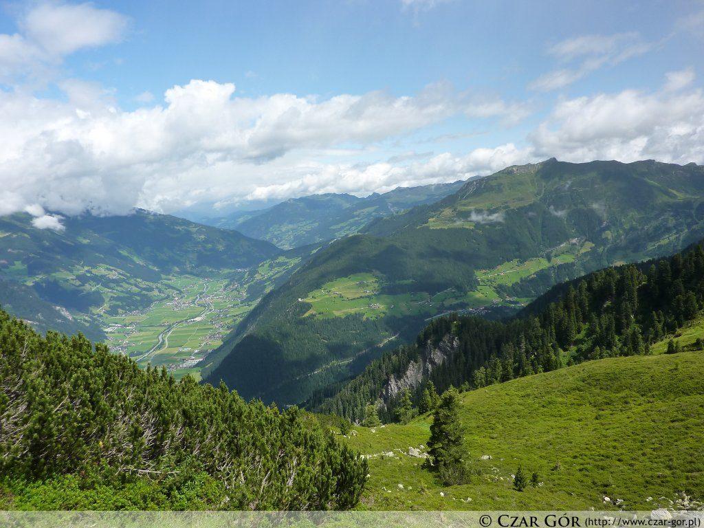 W stronę doliny Zillertal
