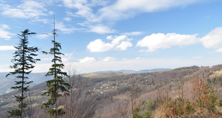 Góra Żar z przełęczy Kocierskiej