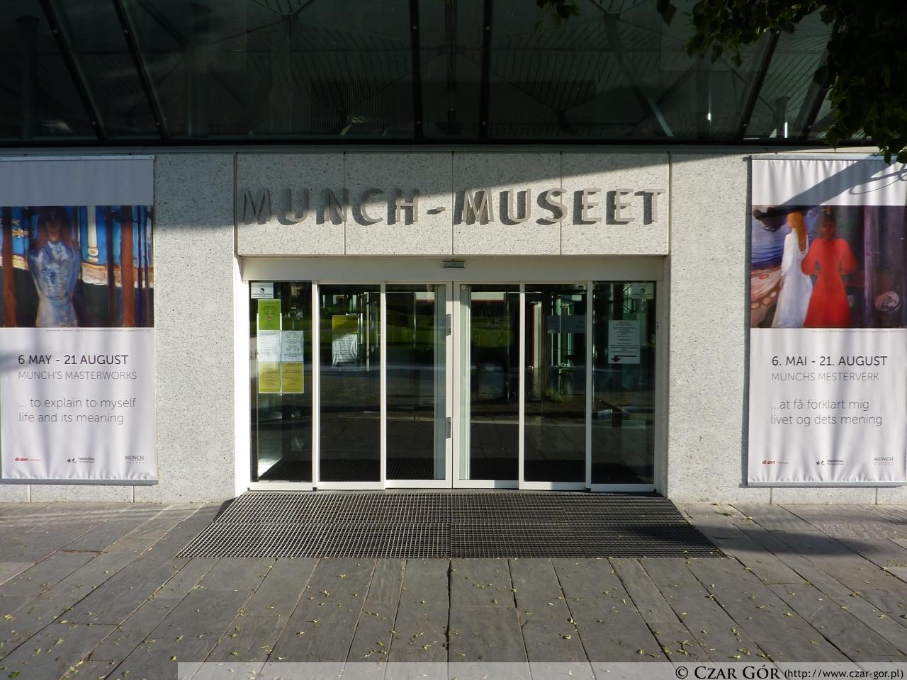 Wejście do muzeum Muncha w Oslo